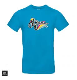 Hochstarter T-Shirt Logo Blau